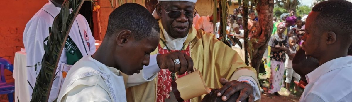 Visita di Mons. Bernard Kasanda a Munkamba